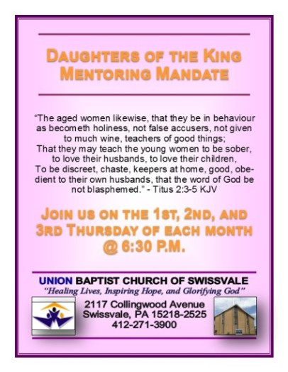 Daughters of the King Dual Sided Postcard revised 07-03-2014-2